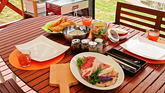 THE FARM,夕食,BBQ