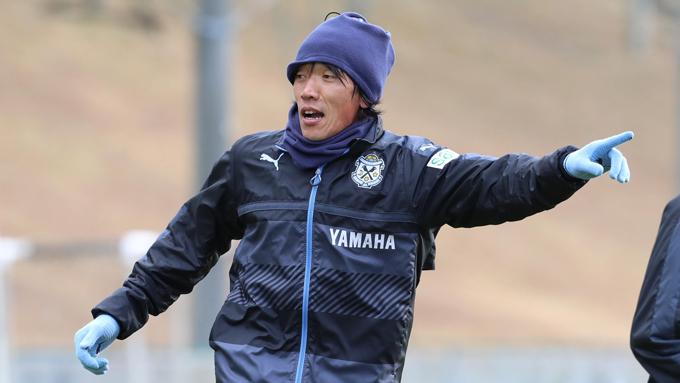 男子サッカーJ1 ジュビロ磐田・練習 移籍後初練習を行った、中村俊輔
