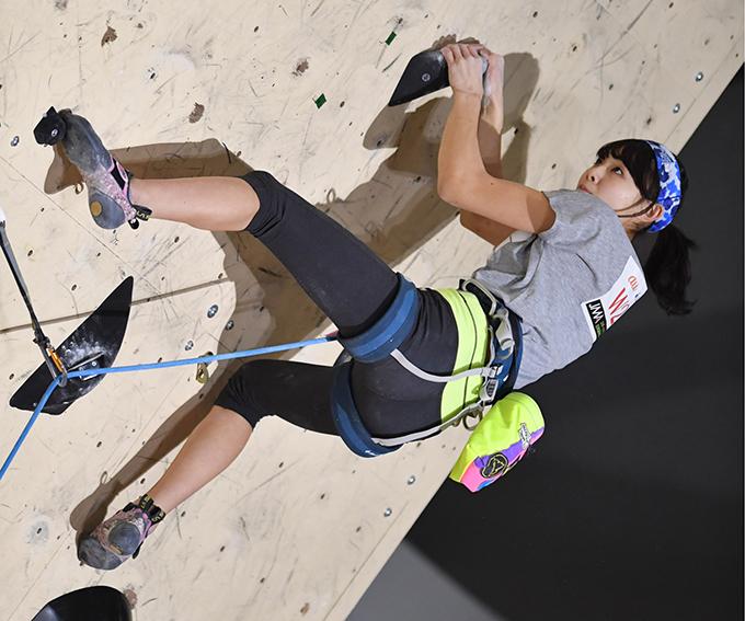 スポーツクライミング 日本選手権リード競技大会 伊藤ふたば 写真提供:産経新聞社