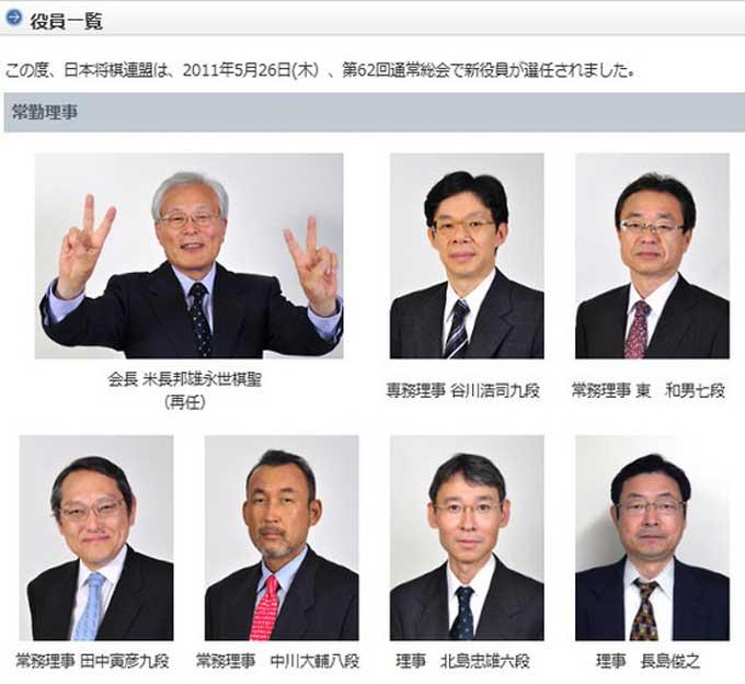 将棋連盟,20110526役員一覧