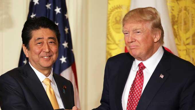 安倍晋三,安倍首相,トランプ大統領