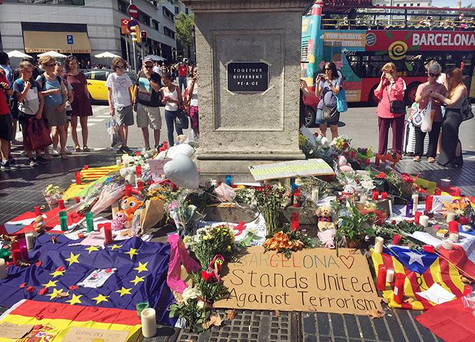 スペイン バルセロナ テロ現場