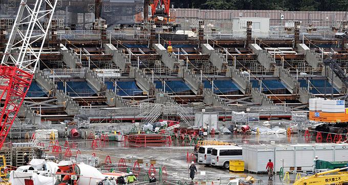 2020年 東京五輪 競技会場 見学するツアー 新国立競技場 建設予定地