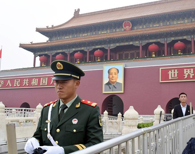 中国共産党 1中総会 北京 天安門 人民武装警察