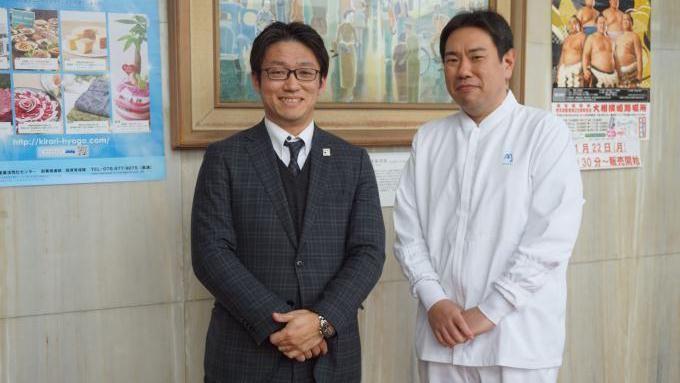 まねき食品 竹田専務 廣重企画室長