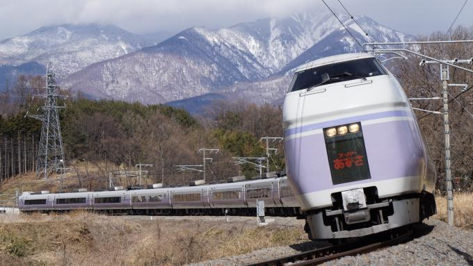 E351系 特急 スーパーあずさ 中央本線 小淵沢 長坂