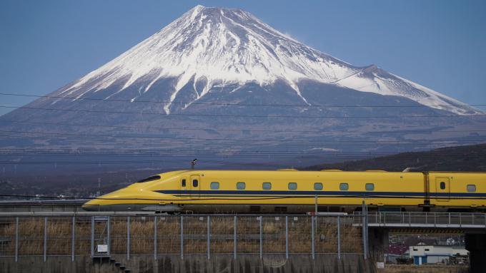 923形 新幹線 ドクターイエロー 東海道新幹線 三島 新富士