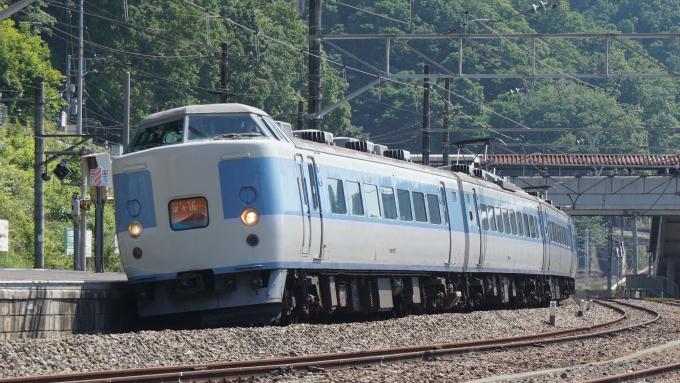 189系電車 快速 ホリデー快速富士山 あずさ色 中央本線 上野原駅