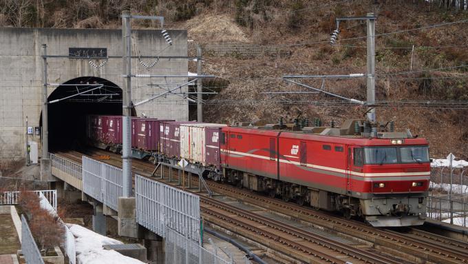 JR貨物 EH800形電気機関車牽引 貨物列車 海峡線 木古内 奥津軽いまべつ