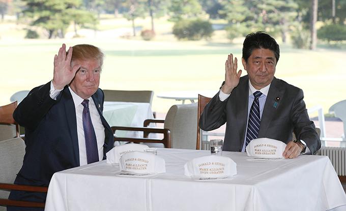 日米 首脳 ゴルフ 会談 安倍 晋三 首相 トランプ 米 大統領