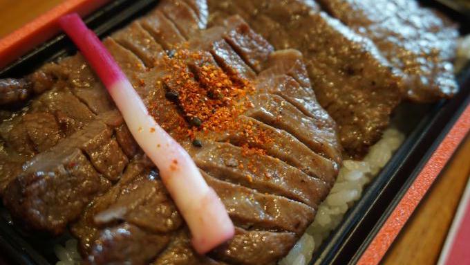厚切り牛たんA5仙台牛Wステーキ弁当