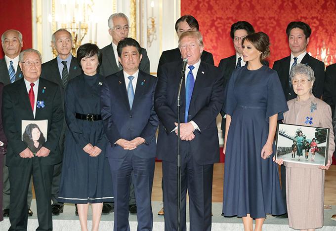 トランプ 大統領 安倍 晋三 北朝鮮 拉致 被害者 家族 面会