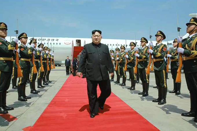 金正恩 朝鮮労働党委員長 北朝鮮 中国 大連 専用機