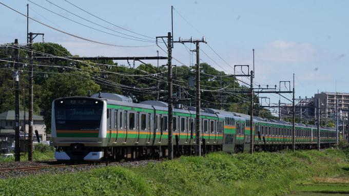 E233系 電車 普通列車 上野行 東北本線 蓮田 東大宮