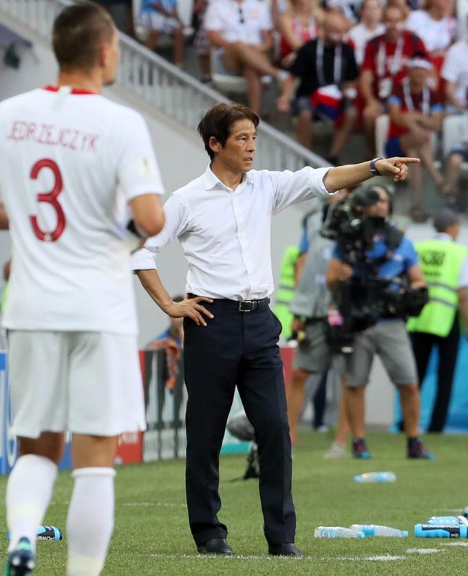 西野 朗 監督 日本 ポーランド サッカー ロシア W杯 2018