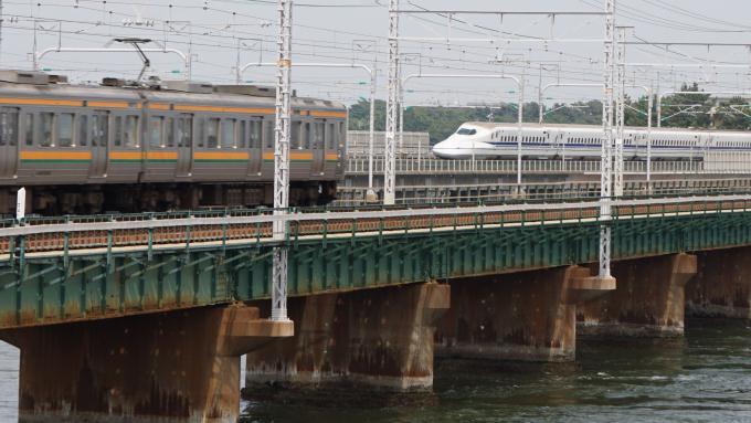 N700A 新幹線 211系 電車 東海道 本線 新居町 弁天島
