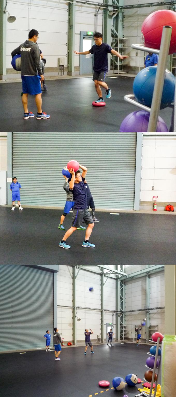 メディシン ボール バランスクッション 歩行 練習 金井 宇宙飛行士