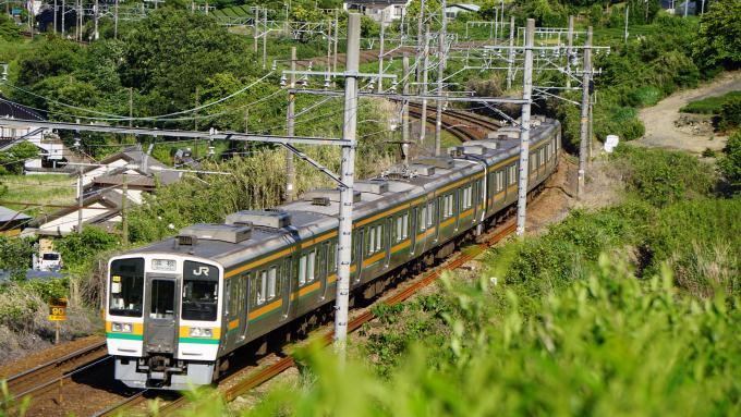 211系 電車 普通列車 浜松行 東海道本線 島田 金谷