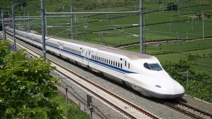 N700A のぞみ 東海道新幹線 掛川 静岡