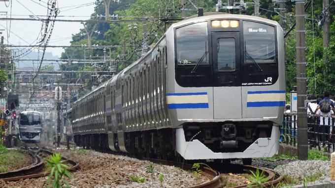 E217系 普通列車 横須賀線 北鎌倉 鎌倉