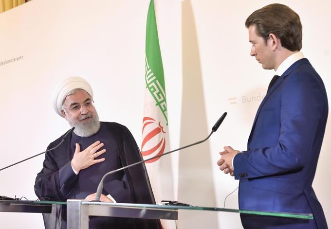 オーストリア クルツ 首相 イラン ロウハニ 大統領 会談後 記者会見