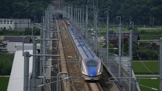 W7系 はくたか 北陸新幹線 黒部宇奈月温泉~富山間 新幹線