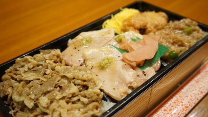 牛豚鶏の味くらべ 東華軒 駅弁 弁当 踊り子 牛 豚 鶏 肉