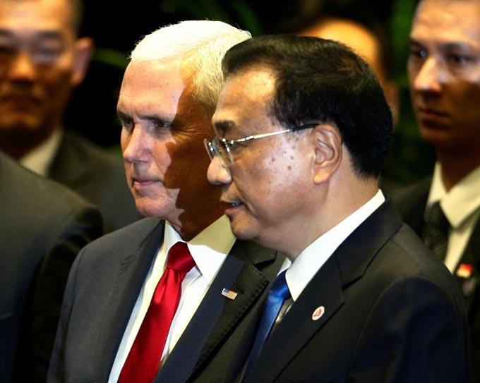 ペンス副大統領 李克強首相 ペンス 李克強 ASEAN 会談 南シナ海 アメリカ トランプ 冷戦