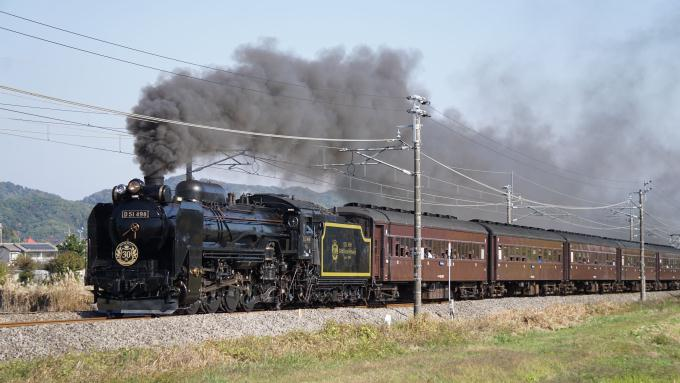 D51形 蒸気機関車 旧型客車 快速 SLぐんまよこかわ 信越本線 安中~磯部