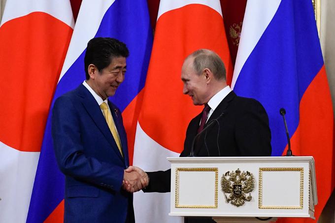 プーチン 日露首脳会談 日露 北方領土 2島 返還 4島一括 安倍 モスクワ