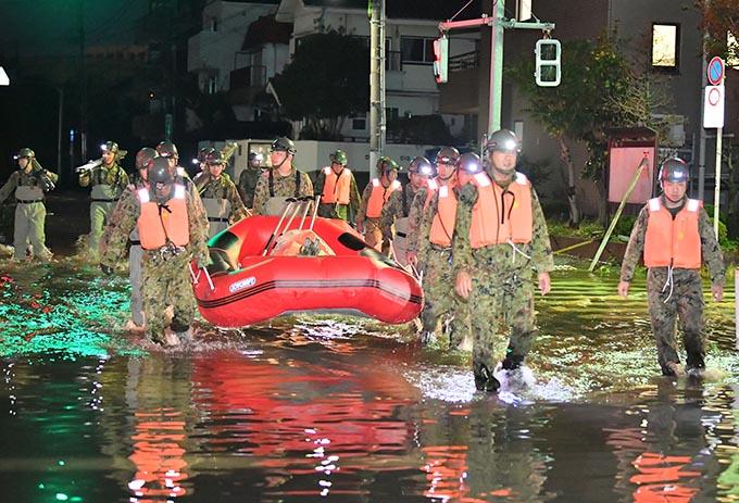 台風 19 号 東京 浸水