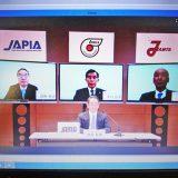 Web上で行われた自動車工業4団体の緊急会見(2020年4月10日撮影)