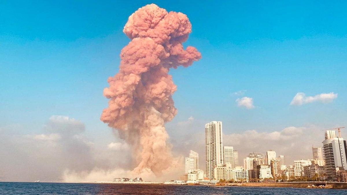 レバノン 爆発