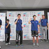 パラ水泳「東京パラリンピック1年前会見」での集合写真