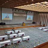 労使フォーラムはオンラインで開催された(中央は経団連・久保田政一事務総長 中西会長のあいさつを代読 1月26日撮影)