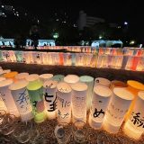 紙筒製の灯ろうも多く見られた(「阪神淡路大震災1.17のつどい実行委員会」提供)