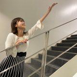 ニッポン放送本社の階段にて。MVを再現してみました