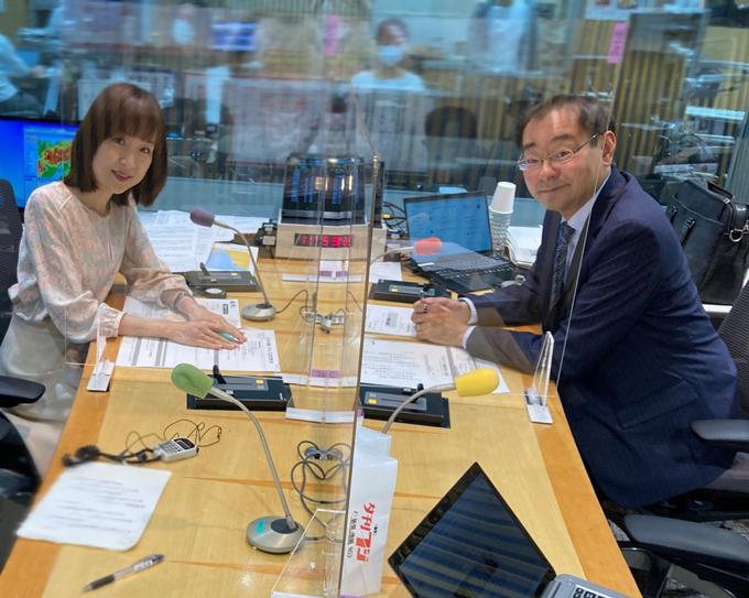 増山さやかアナウンサー、飯田浩司アナウンサー