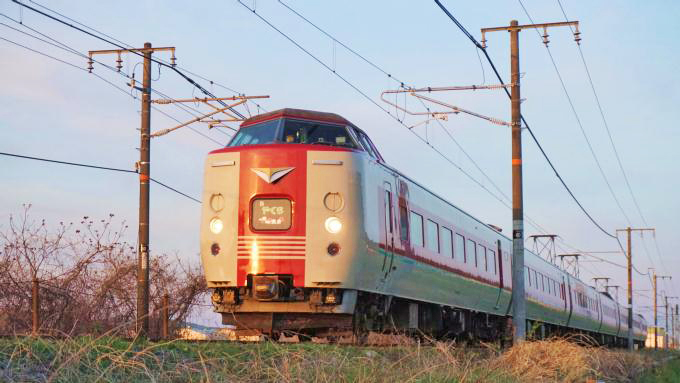 381系電車・特急「やくも」、山陽本線・庭瀬~中庄間