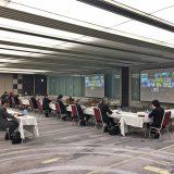 経団連と大学側が採用や教育に関する産学協議会を約1年ぶりに開いた(4月19日撮影)
