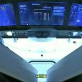 クルードラゴンの船内(NASAテレビから)