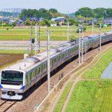 E531系電車・普通列車、常磐線・赤塚~内原間(2018年撮影)