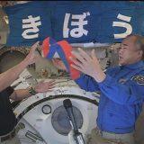 野口さんと星出さんの「タスキリレー」(4月26日記者会見で JAXA・NASA提供)