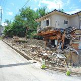 2018年の西日本豪雨 広島県熊野町で壊滅した住宅
