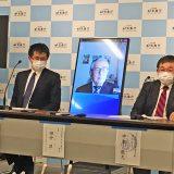 気象庁の記者会見(2021年4月28日撮影)