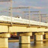 N700系新幹線電車「さくら」、山陽新幹線・西明石~姫路間(2017年撮影)