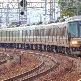 223系電車「新快速」、山陽本線・塩屋~須磨間(2018年撮影)