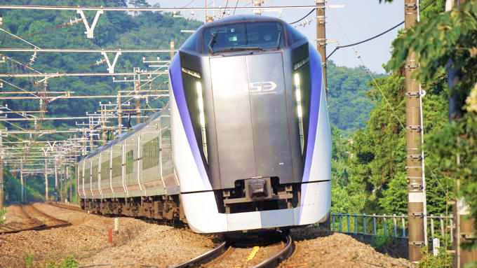 E353系電車・特急「あずさ」、中央本線・高尾~相模湖間