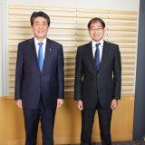 安倍晋三前内閣総理大臣、飯田浩司アナウンサー
