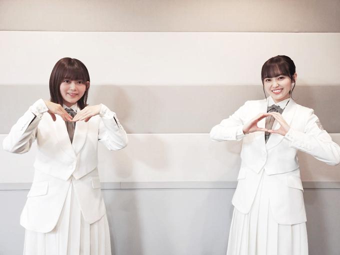 櫻坂46 尾関梨香、松田里奈 ※2021年1月3日放送分収録時の写真